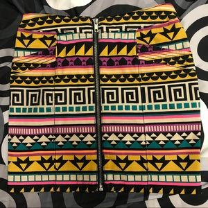 Divided by H&M Multi colored mini Skirt